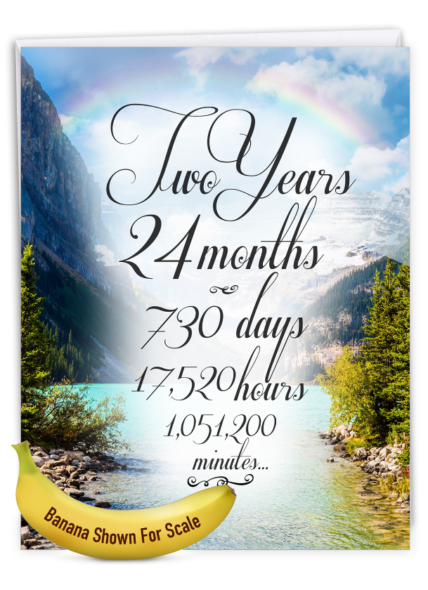 2 Year Time Count: Creative Recovery Jumbo Printed Greeting Card