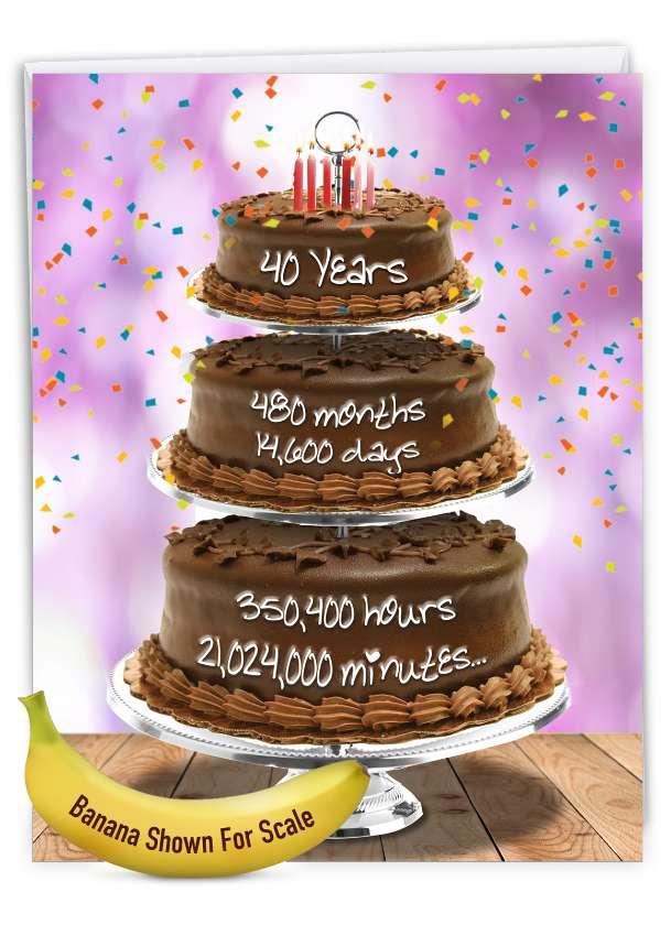 40 Year Time Count: Stylish Milestone Birthday Big Card