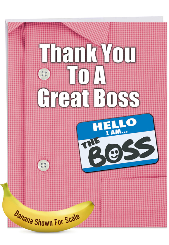 Thank You to a Great Boss Jumbo Card