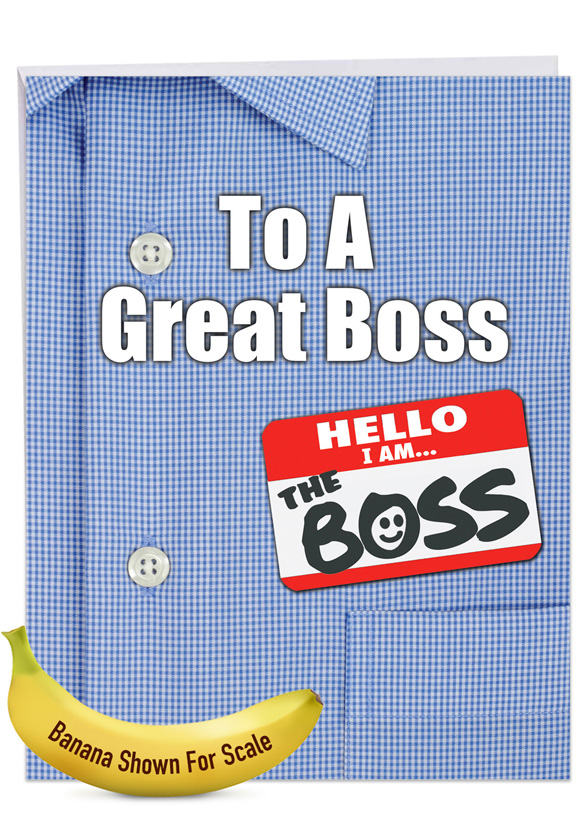 Thank You to a Great Boss: Creative Boss's Day Large Greeting Card