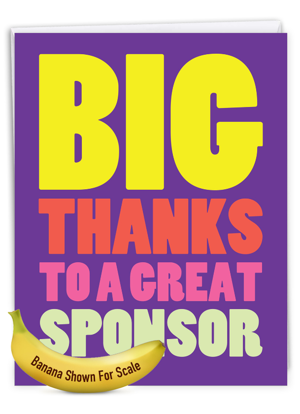 Great Sponsor: Funny Recovery Extra Large Paper Card