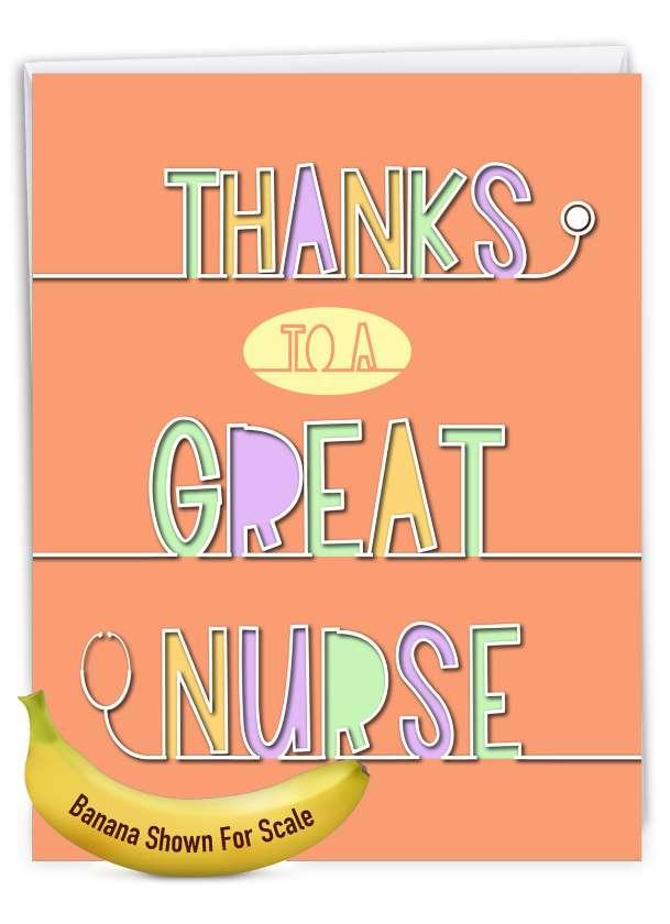 Nurse Gratitude: Stylish Thank You Over-sized Paper Greeting Card