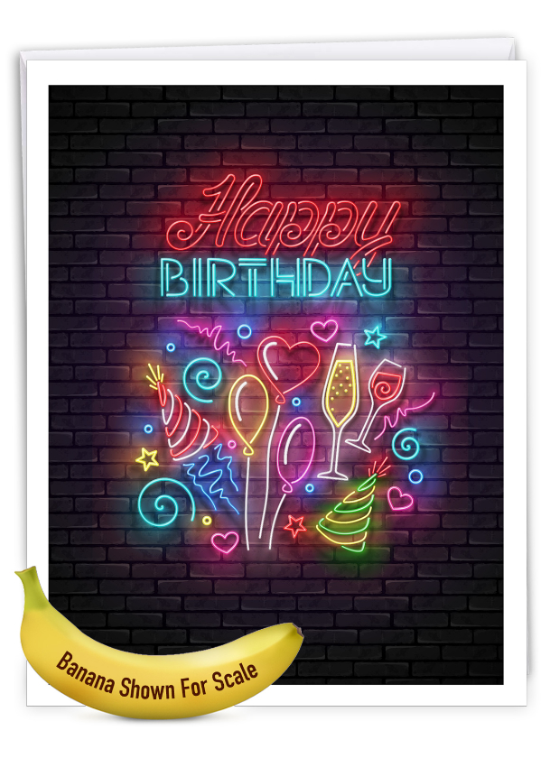 Glowing Wishes - Balloons: Creative Birthday Extra Large Paper Card