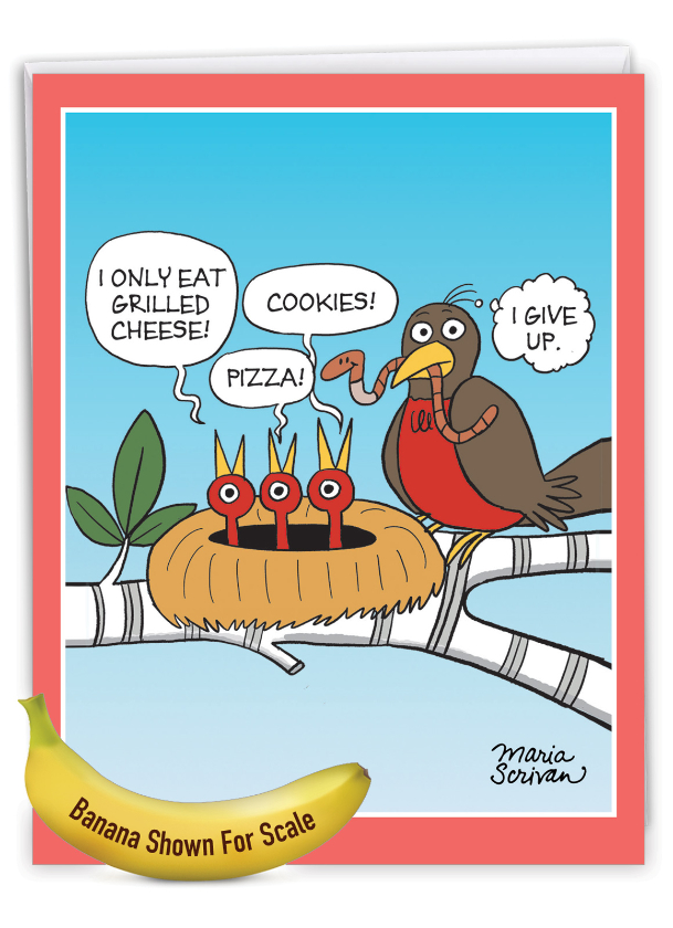 Picky Eaters: Hysterical Mother's Day Jumbo Printed Greeting Card