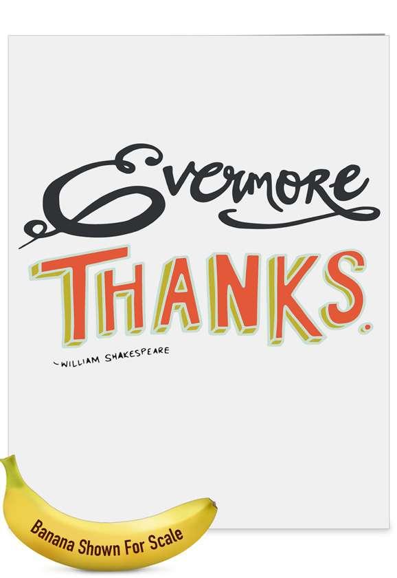 Words of Appreciation - Teacher TY: Creative Teacher Thank You Jumbo Printed Greeting Card