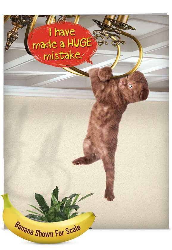 Huge Mistake: Humorous Sorry Jumbo Paper Greeting Card