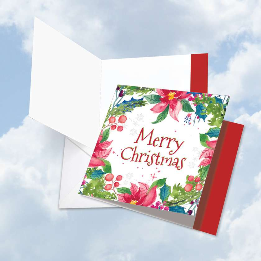 Wreath Greetings Card