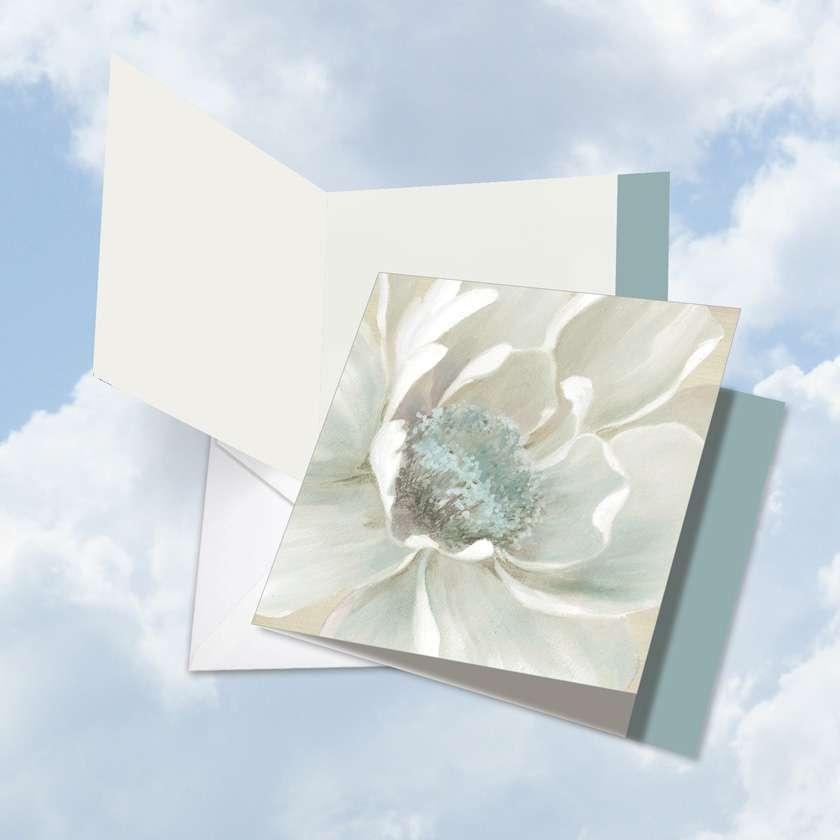 Peaceful Petals - Teacher TY: Stylish Teacher Thank You Card