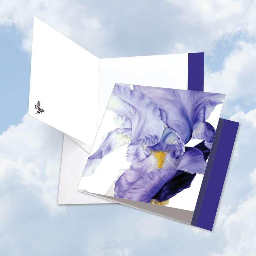 Iridescent Iris - Teacher TY: Creative Teacher Thank You Greeting Card