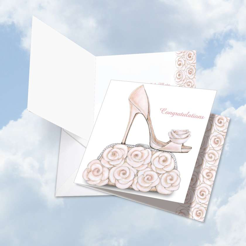 Bride-itude: Creative Congratulations Jumbo Square-Top Printed Card
