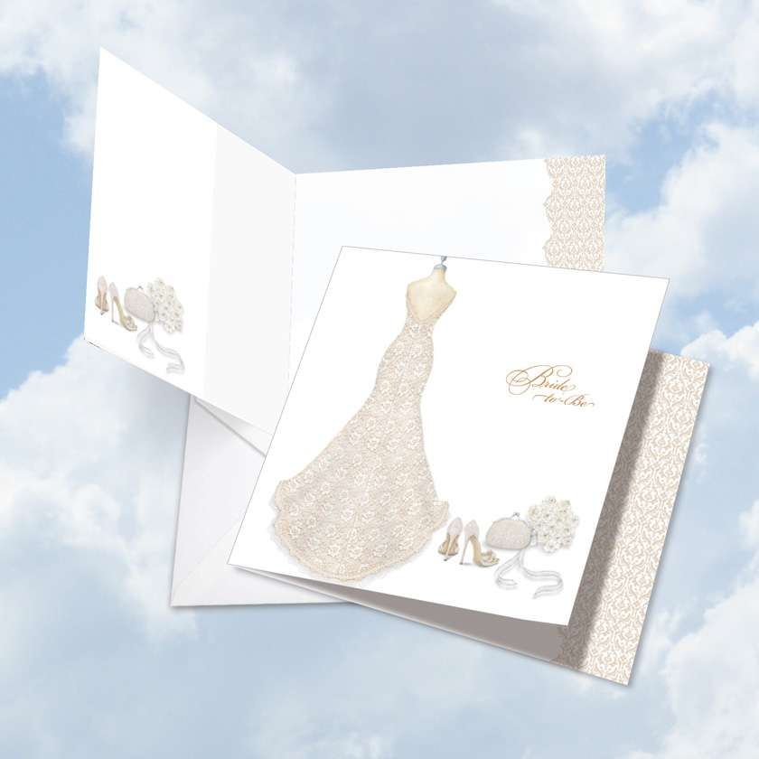 Bride-To-Be: Creative Bachelorette Jumbo Square-Top Paper Greeting Card