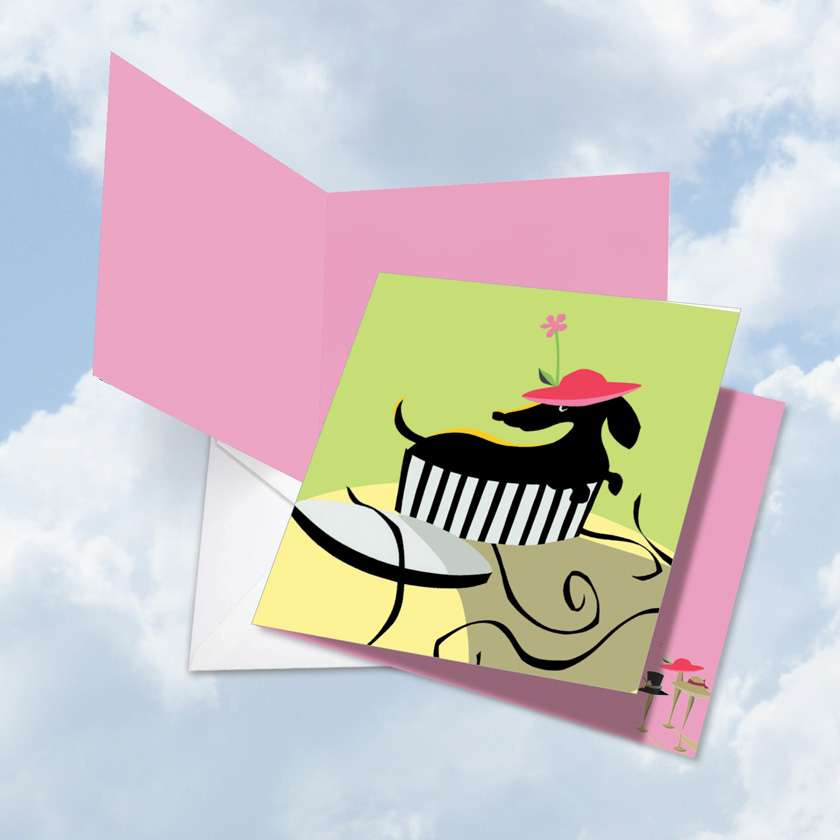 Hats Off: Creative Mother's Day Jumbo Square-Top Printed Card